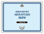 Mountain Brew Rectangular Beer Bottle Label