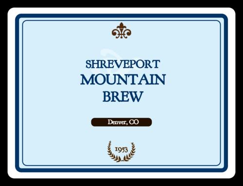 "OL500 - 4"" x 3"" - Mountain Brew Rectangular Beer Bottle Label"