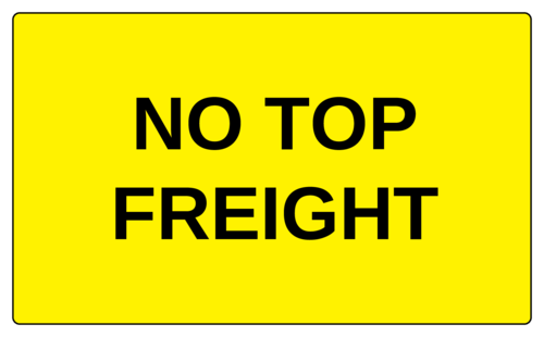 "OL6675 - 5"" x 3"" - No Top Freight Label"