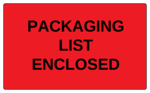 "OL6675 - 5"" x 3"" - Packaging List Enclosed Label"
