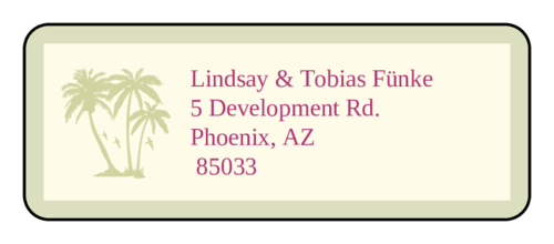 "OL875 - 2.625"" x 1"" - Paradise Wedding Address Label"
