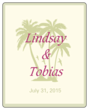 Paradise Wedding Announcement Label