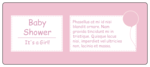 Pink Baby Shower Water Bottle Label