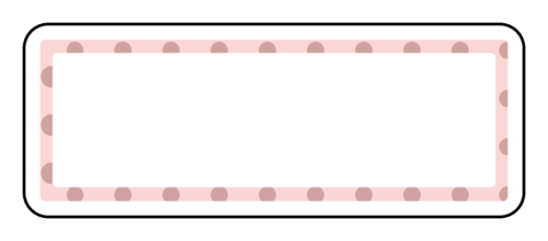 "OL875 - 2.625"" x 1"" - Polka Dots Address Label"