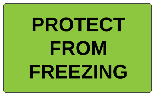 "OL6675 - 5"" x 3"" - Protect From Freezing Label"