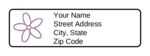 Return Address Label With Flower