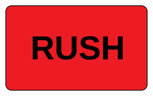 """OL1125 - 3.0625"""" x 1.8375"""" - Rush Label"""