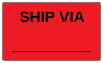 "OL6675 - 5"" x 3"" - Ship Via Label"