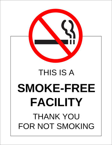 "OL175 - 8.5"" x 11"" - Smoke-Free Facility Label"
