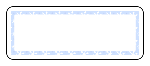 Snowflakes Background Address Label - Label Templates - Address Labels ...
