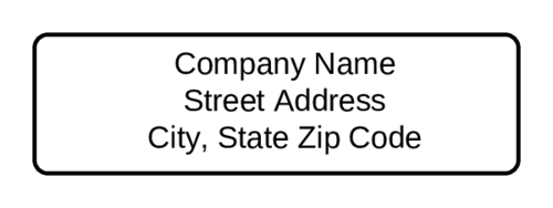 Standard Return Address Label pre-designed label template for OL25