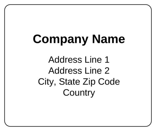 Standard Shipping Label - Label Templates - OL150 ...