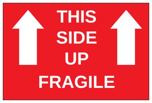 this side up - fragile label - label templates - ol145