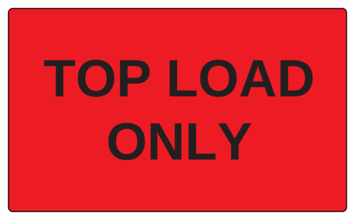 "OL6675 - 5"" x 3"" - Top Load Only Label"