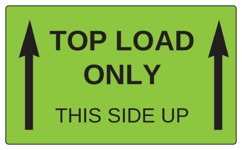 "OL6675 - 5"" x 3"" - Top Load Only - This Side Up Label"