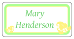 "OL125 - 4"" x 2"" - Wedding Leaves Name Tag Label"