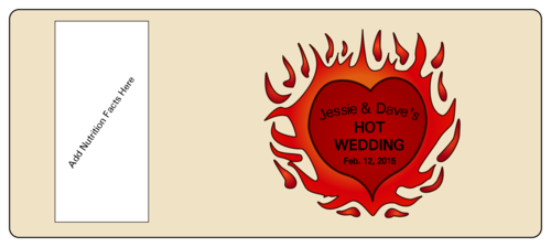 "OL5925 - 7"" x 3"" - Hot Sauce Bottle Wedding Label"