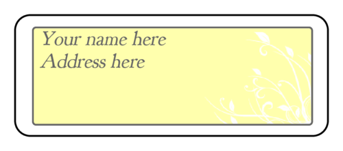 "OL875 - 2.625"" x 1"" - Cape Cod - Subtle Yellow Wedding Address Label"