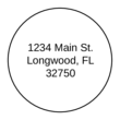 "OL325 - 1.67"" Circle - 1.67"" Circle Address Label"
