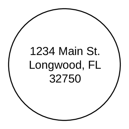 "OL317 - 7"" Circle - Circle Address Label"
