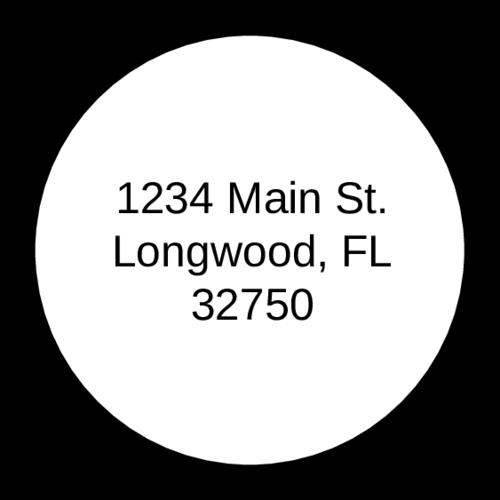 """OL325 - 1.67"""" Circle - 1.67"""" Circle Address Label"""