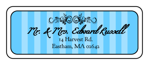 madison avenue sky blue wedding address label label templates
