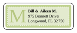 "OL875 - 2.625"" x 1"" - Chesapeake - Key Lime Wedding Address Label"