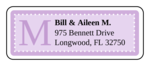 "OL875 - 2.625"" x 1"" - Chesapeake - Lavender Wedding Address Label"