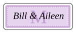 "OL875 - 2.625"" x 1"" - Chesapeake - Lavender Wedding Envelope Label"