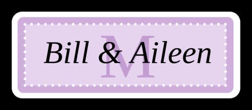 "OL875 - 2.625"" x 1"" - Chesapeake - Lavender Wedding Envelope Label"