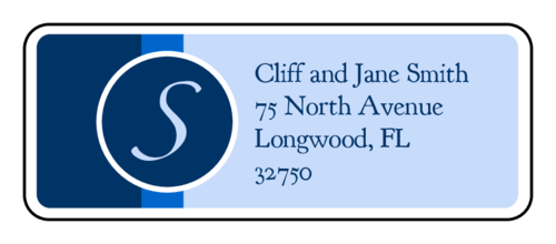 "OL875 - 2.625"" x 1"" - Nautical Wedding Address Label"