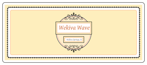 "OL5925 - 7"" x 3"" - Wekiva Wave Rectangular Beer Bottle Label - Large"