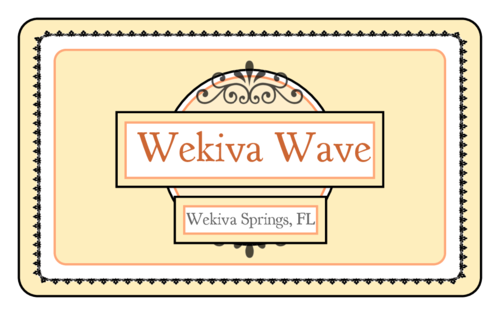 "OL1125 - 3.0625"" x 1.8375"" - Wekiva Wave Rectangular Beer Bottle Label - Small"