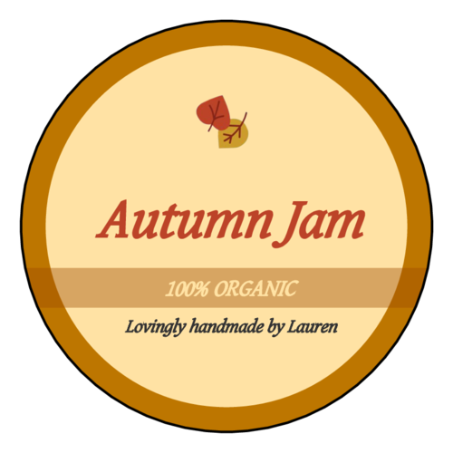 Autumn Jam Round Jar Label