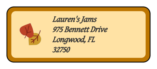 Autumn Jam - Address Label pre-designed label template for OL875