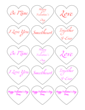 Valentine\'s Day Heart Label Expressions