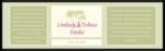 Paradise Wedding 16oz Water Bottle Label