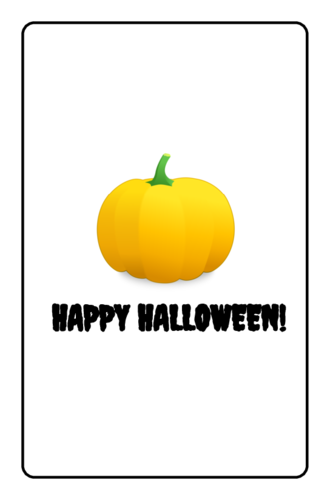 Happy Halloween Candy Wrapper pre-designed label template for OL800