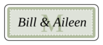 "OL875 - 2.625"" x 1"" - Chesapeake - Pistachio Wedding Envelope Label"