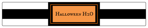 Halloween H20 Bottle pre-designed label template for OL435