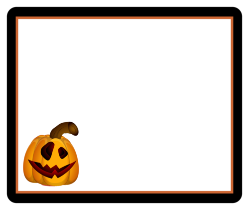 Jack O Lantern Rounded Corner Box pre-designed label template for OL150