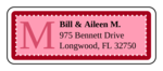 "OL875 - 2.625"" x 1"" - Chesapeake - Rose Wedding Address Label"