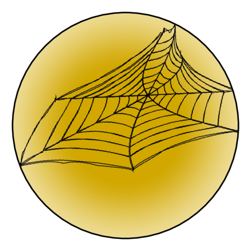 Spider Web pre-designed label template for OL8750
