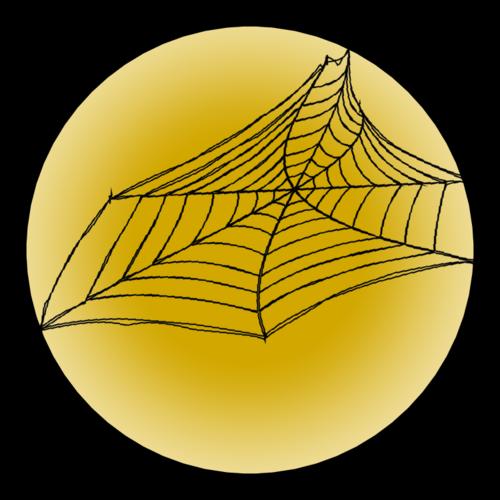 "OL8750 - 2.25"" Circle - Spider Web"