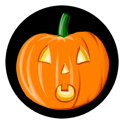 "OL350 - 2.5"" Circle - Pumpkin Circle"
