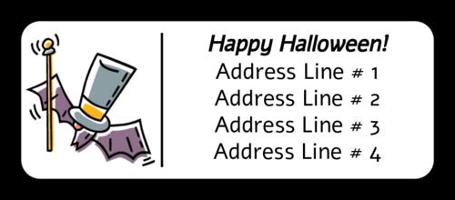 "OL875 - 2.625"" x 1"" - Halloween Hat Bat"