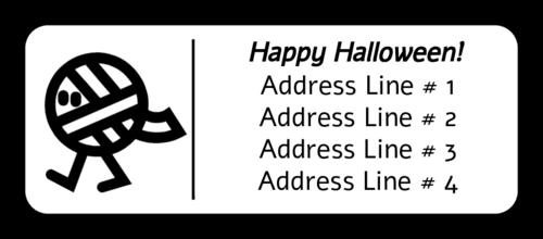 """OL875 - 2.625"""" x 1"""" - Halloween Mummy"""
