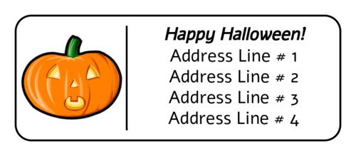 Halloween Pumpkin pre-designed label template for OL875
