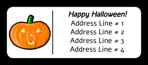 "OL875 - 2.625"" x 1"" - Halloween Pumpkin"
