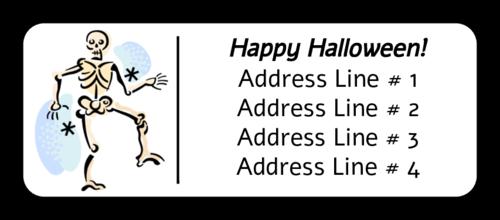 "OL875 - 2.625"" x 1"" - Halloween Skeleton"